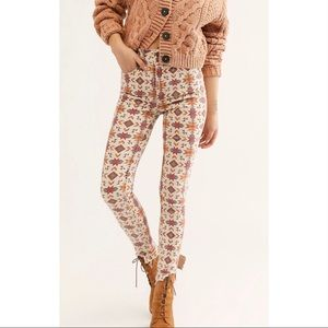 NWT Free people wild child jeans aztec new size 24